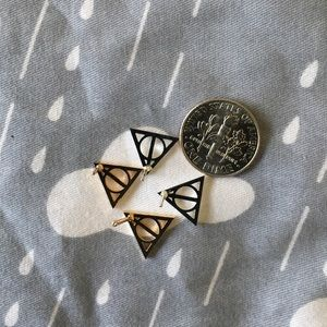 Jewelry - Deathly hallows stud earrings